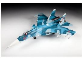 Сборная модель ZVEZDA Российский палубный истребитель Су-33, 1/72