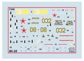 Сборная модель ZVEZDA Российский ударный вертолёт Ми-28А, 1/72 1