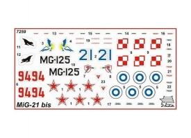 Сборная модель ZVEZDA Советский истребитель МиГ-21БИС, 1/72 1