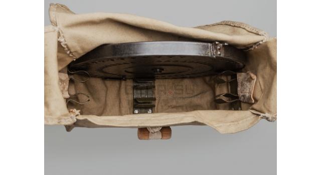 Сумка-переноска для дисков ДП-27 / Оригинал на войну для 3-х дисков светлый брезент с ремешком [сн-321]