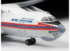 Сборная модель ZVEZDA Российский транспортно-десантный самолет Ил-76 ТД МЧС России, 1/144 1