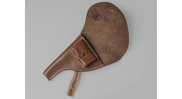 Кобура Наган царская / Копия коричневая с клеймом 1908 года [наган-121]