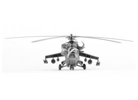 Сборная модель ZVEZDA Советский ударный вертолет Ми-24В/ВП &quotКрокодил&quot, подарочный набор, 1/72 1