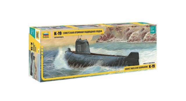 Сборная модель ZVEZDA Советская атомная подводная лодка К-19, 1/350 5
