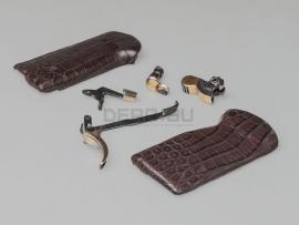 8227 Золочёный комплект для АПС с накладками из крокодиловой кожи