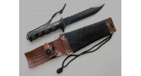 Боевой нож выживания «Эльф» спецназа ГРУ / Оригинал склад в полной комплектации с коричневыми ножнами [хо-127]