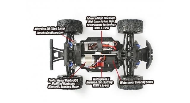 Радиоуправляемый монстр Remo Hobby MMAX PRO (красный) Li-Po 4WD 2.4G 1/10 RTR 7