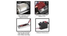 Радиоуправляемый монстр Remo Hobby MMAX PRO (красный) Li-Po 4WD 2.4G 1/10 RTR 10