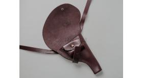 Кобура Наган царская / Копия черезплечная цвет вишня с клеймом 1908 года [наган-123]