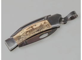 Боцманский нож с накладками из кости A. G. Russell Sailor's knife