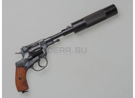 Макет глушителя «Брамит» для револьвера Наган / Новый, байонетный тип крепления, тип 2 [наган-127]