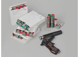 Двухцветные сигнальные патроны 26-мм (4 калибра) / Двузвёздный зелёного и красного огня длина гильзы 80 мм [сиг-418]