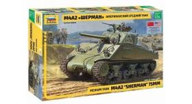 Сборная модель ZVEZDA Американский средний танк М4А2 &quotШерман&quot, 1/35 7