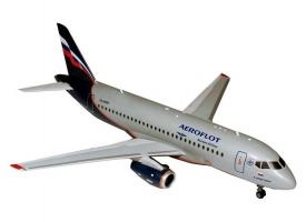 Сборная модель ZVEZDA Региональный пассажирский авиалайнер Superjet 100, 1/144
