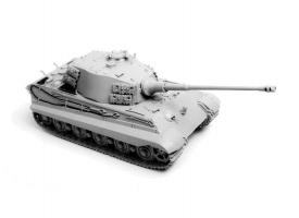 Сборная модель ZVEZDA Тяжелый немецкий танк T-VIB «Королевский Тигр»,башня Хеншель, под. набор,1/35