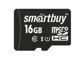 Карта памяти SMART BUY microSDHC-16 Gb class 10