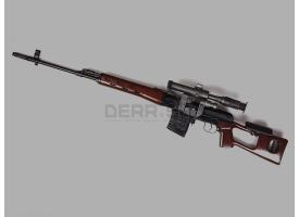 Охолощенная снайперская винтовка Драгунова (СВД)
